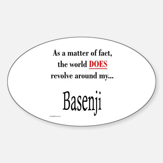 Basenji World Oval Decal