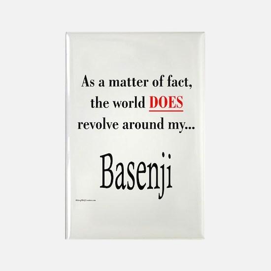 Basenji World Rectangle Magnet