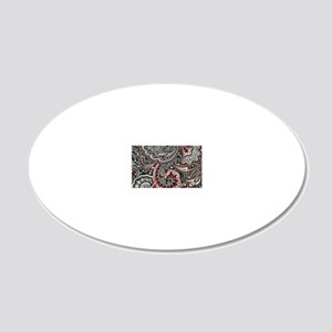Toiletry Black Paisley 20x12 Oval Wall Decal