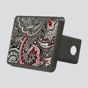 Toiletry Black Paisley Rectangular Hitch Cover