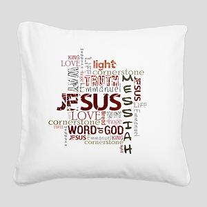 jesuswordcloud3 Square Canvas Pillow