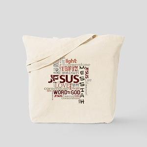 jesuswordcloud3 Tote Bag