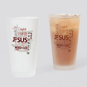 jesuswordcloud3 Drinking Glass