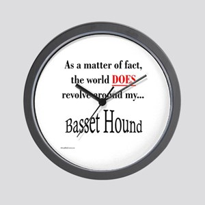 Basset Hound World Wall Clock