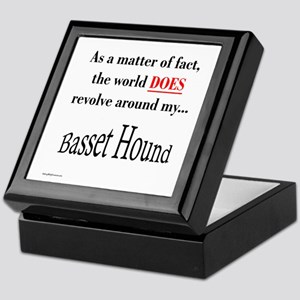 Basset Hound World Keepsake Box
