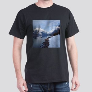 Lake McDonald In Glacier Park Dark T-Shirt