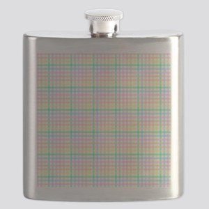 Pastel Checkerboard Flask