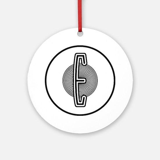 edsel-emblem-001 Round Ornament