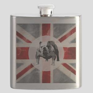 616 Union Jack Bulldog Montage for Cafe Pres Flask