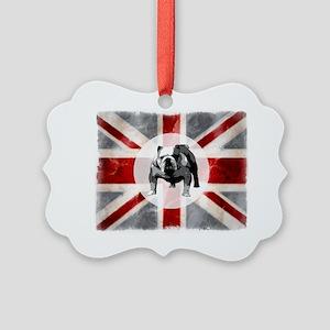 616 Union Jack Bulldog Montage fo Picture Ornament