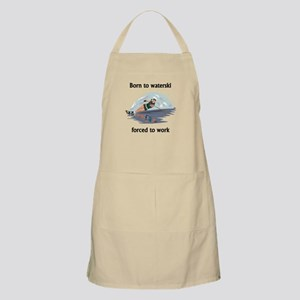 Born To Waterski Forced To Work Apron