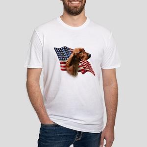 Irish Setter Flag Fitted T-Shirt