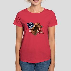 Irish Setter Flag Women's Dark T-Shirt