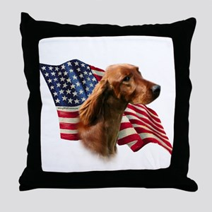 Irish Setter Flag Throw Pillow