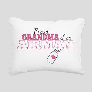 Proud grandma an airman Rectangular Canvas Pillow