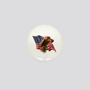 Irish Setter Flag Mini Button