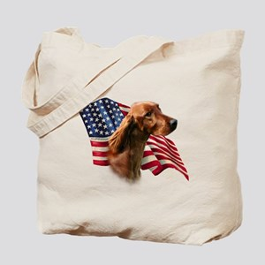 Irish Setter Flag Tote Bag