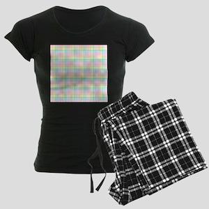 Pastel Checkerboard Women's Dark Pajamas