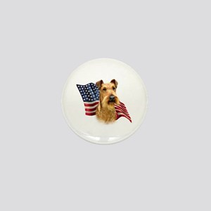 Irish Terrier Flag Mini Button