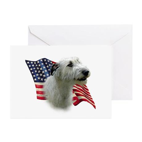 Irish Wolfhound Flag Greeting Cards (Pk of 10)