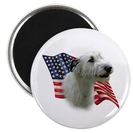 Irish Wolfhound Flag Magnet