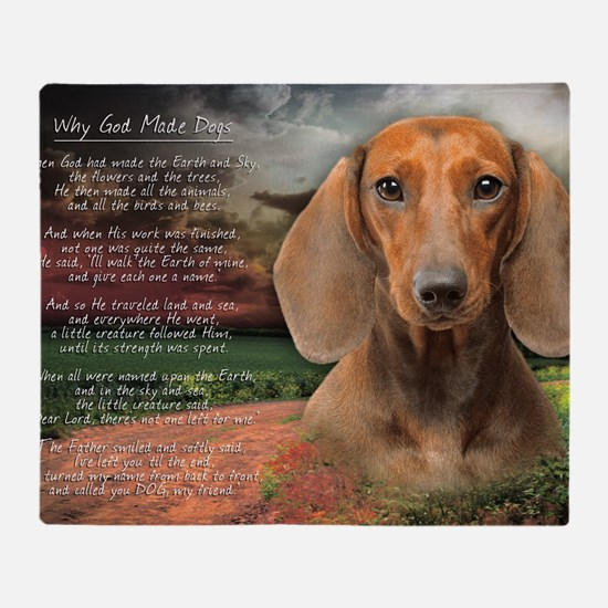 godmadedogs(laptop) Throw Blanket