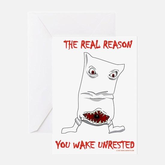 reason_you_have_bad_dreams-1 Greeting Card