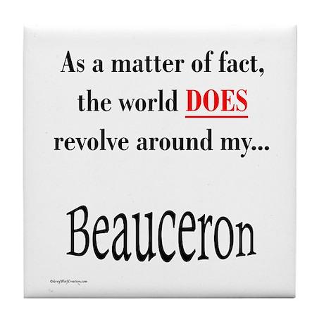 Beauceron World Tile Coaster