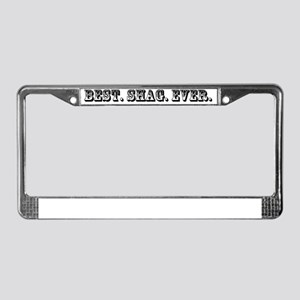 Shag License Plate Frame