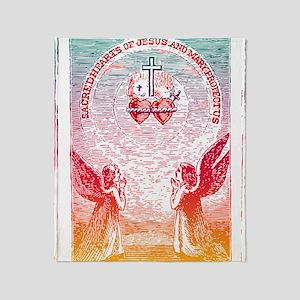 SacredHearts_white Throw Blanket