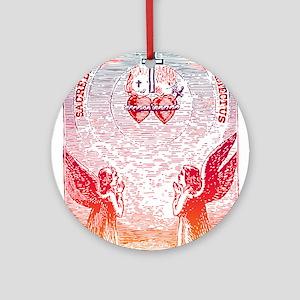 SacredHearts_white Round Ornament