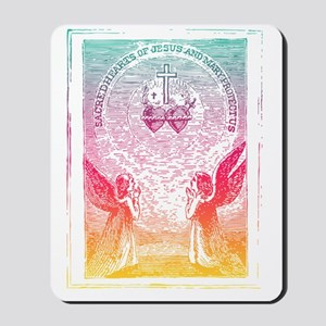 SacredHearts_black Mousepad