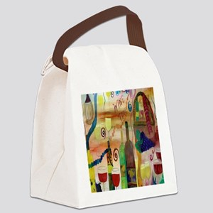 Wine Time Canvas Lunch Bag