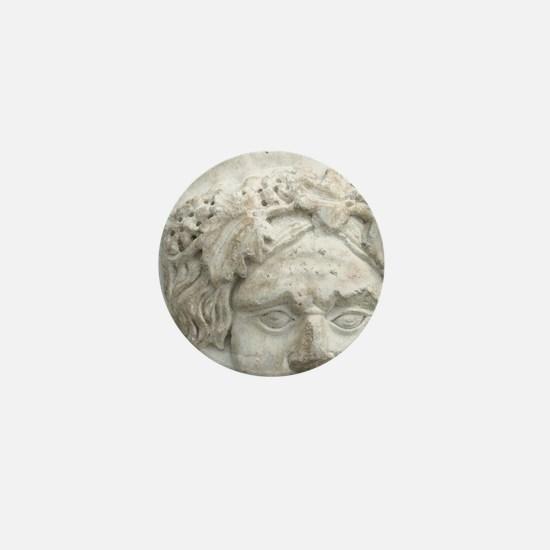Greek Art. Marble fountain pipe repres Mini Button