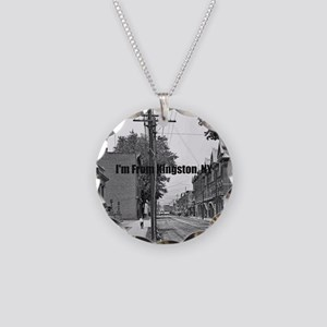 Wall Street Calendar Necklace Circle Charm