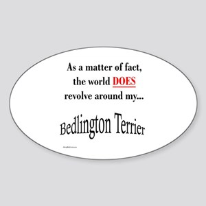Bedlington Terrier World Oval Sticker