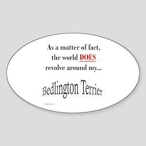 Bedlington Terrier World Oval Sticker