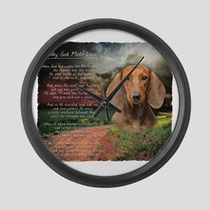 godmadedogs Large Wall Clock