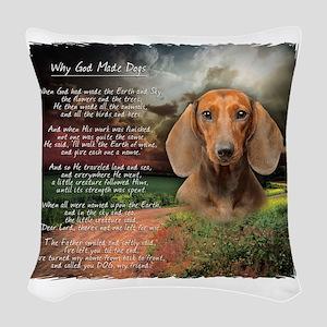 godmadedogs Woven Throw Pillow