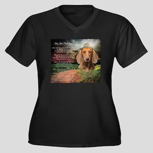 godmadedogs Women's Plus Size Dark V-Neck T-Shirt