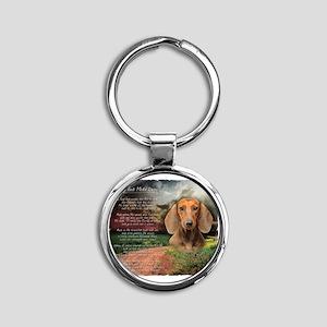 godmadedogs Round Keychain