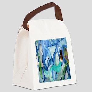 Dolphin  Mermaid Canvas Lunch Bag