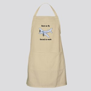 Born To Fly Forced To Work Apron