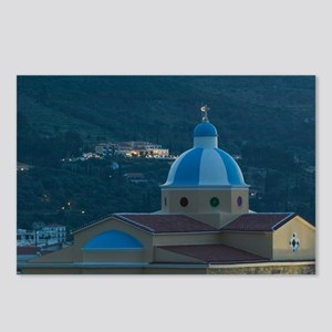 Kokkari: Town Church / Ev Postcards (Package of 8)