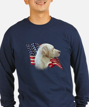 Yellow Lab Flag T