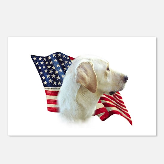 Yellow Lab Flag Postcards (Package of 8)