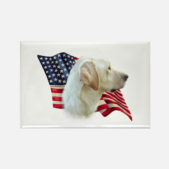 Yellow Lab Flag Rectangle Magnet