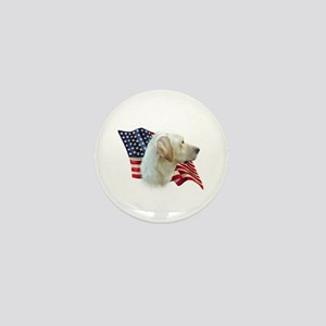 Yellow Lab Flag Mini Button