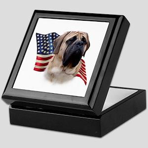 Mastiff(fawn) Flag Keepsake Box