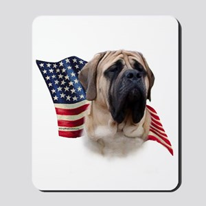 Mastiff(fawn) Flag Mousepad